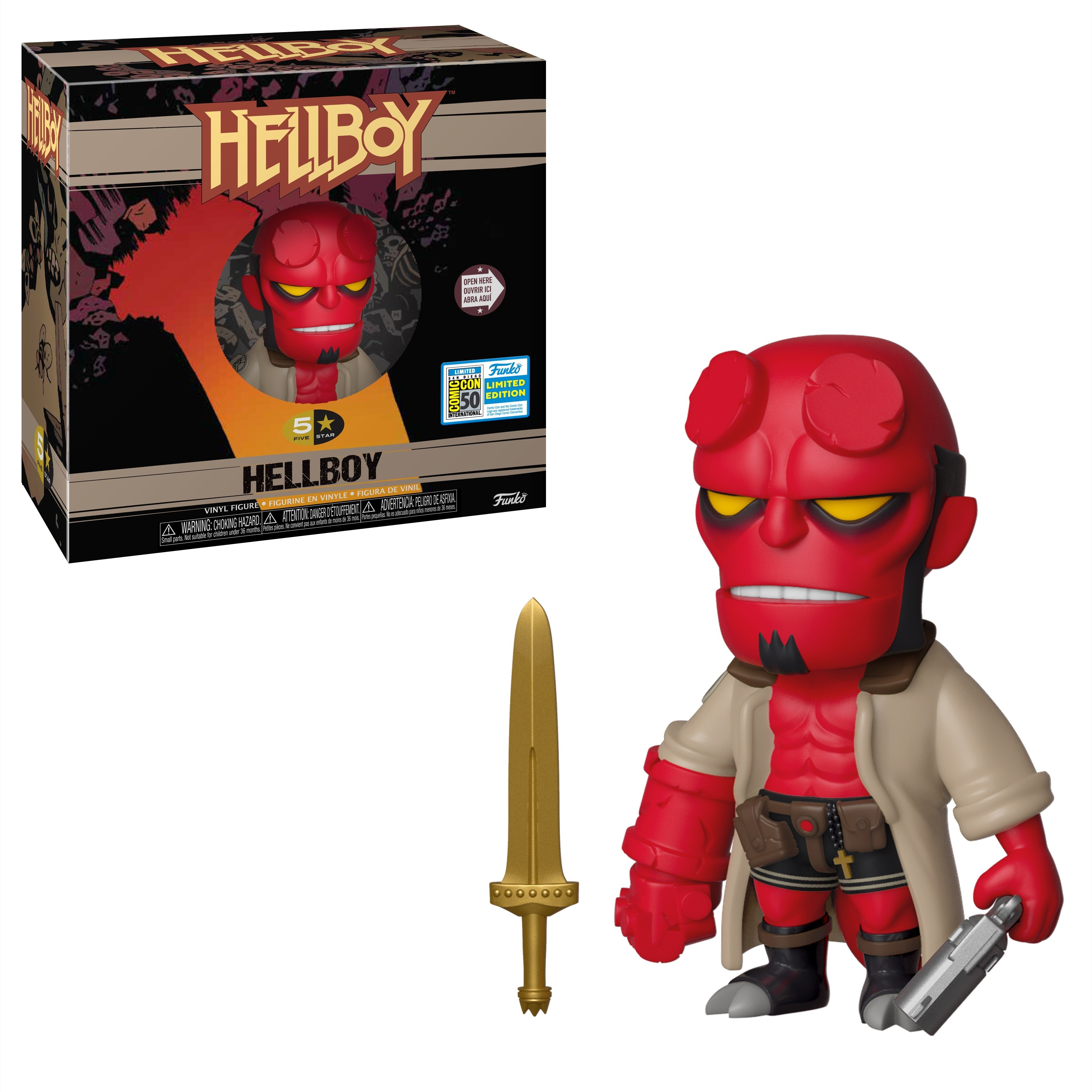 Limited edition  NEW !!! Funko POP Hellboy with sword